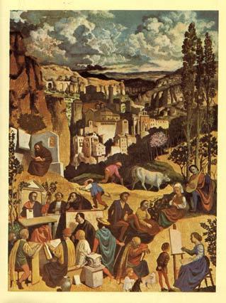 Estampa Medieval de Victor de la Vega publicada en el programa oficial de 1977
